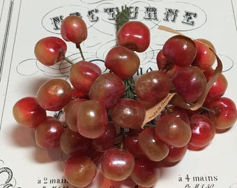 Wonderful old millinery cherries