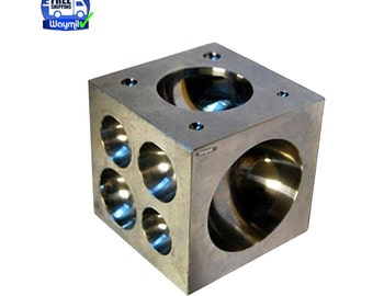 "Steel Dapping Block 2"" Polished Die 21 Cavity Jewelry Metal Shapping & Forming Wa 412-146"