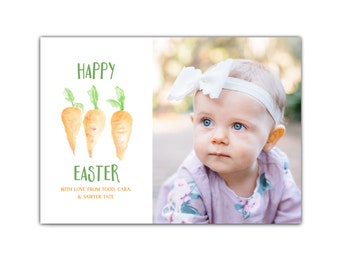 Easter Photo Card // Easter Greeting Cards // Photo Easter Cards // 5x7 Printable Photo Easter Card // Spring Cards // The Tate