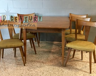 Awesome Mid Century Modern Heywood Wakefield Cadence Dining Set, 1956, 7 Pieces In  Sabal Finish