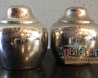 Mid Century Modern International Silver Salt and Pepper Shakers