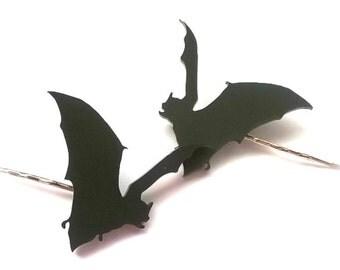 Gothic Bat Hair Slides occult vampire