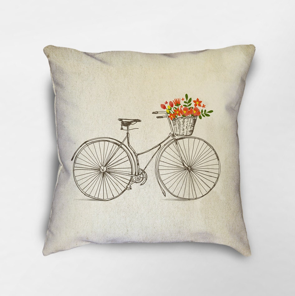 Throw Pillows With Bikes : Bicycle Throw Pillow Bike Pillow Bicycle Gift Bicycle