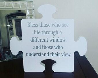 Autism Awareness Jigsaw Plaque