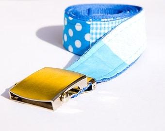 Patchwork - blue belt pattern
