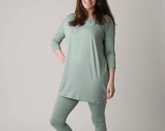 Jona set / long sleeve tunic / jersey fits perfect /