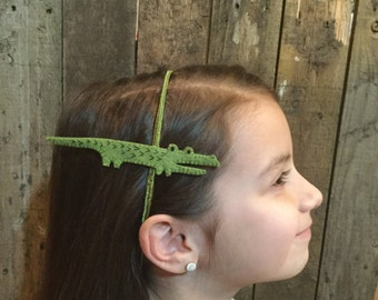 Alligator Headband, felt made from recycled plastic