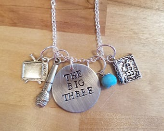 This Is Us hand stamped necklace/keychain - The Big Three- Kate, Kevin, and Randall Pearson