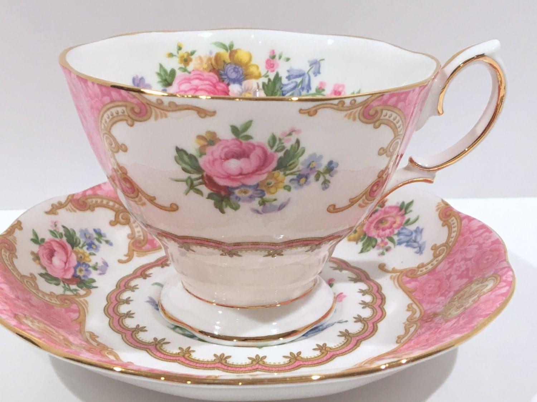 vintage teacup tea cup-#30