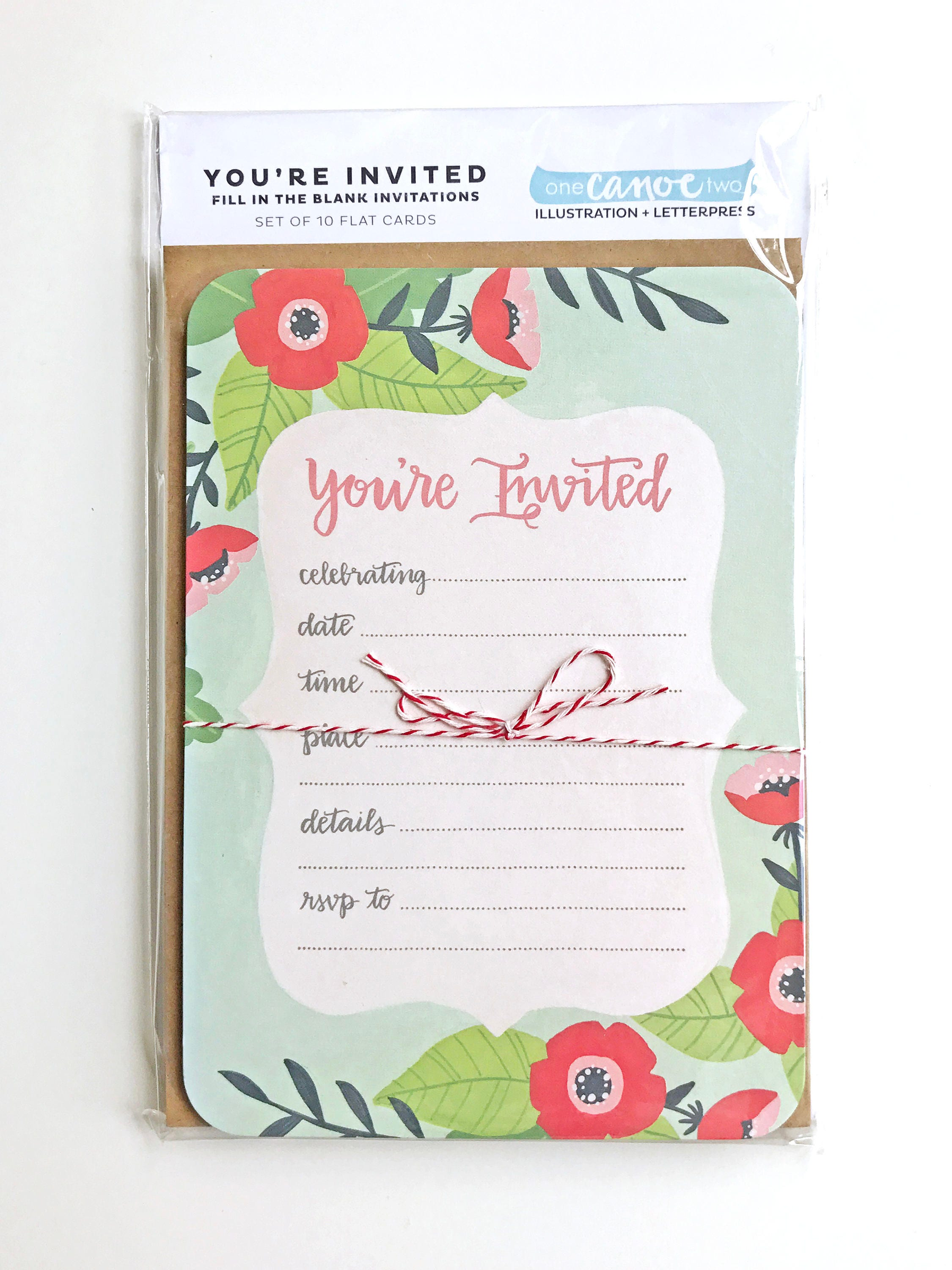 You\'re Invited Fill in the Blank Invitations - Set of 10 Party ...