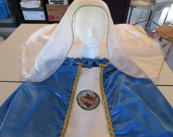 Immaculate Heart of Mary Costume for Girls