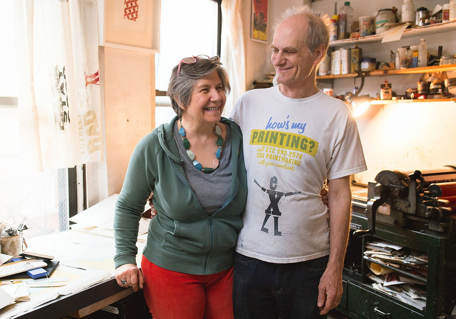 Esther K. Smith and Dikko Faust, owners of Purgatory Pie Press