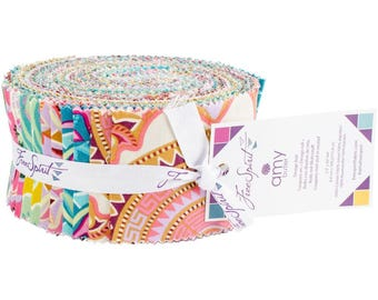 Dream Weaver Design Roll Fabric Jelly Roll From Free Spirit  100% Cotton