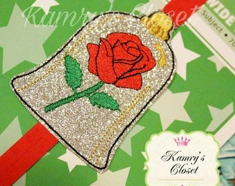Beautiful Rose - Book Band - In The Hoop - DIGITAL EMBROIDERY Design