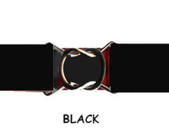 STRETCH-ELASTIC-BELT - Black * 3-Sizes for Kids & Adults *  Adjustable on Both Sides