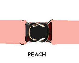 STRETCH-ELASTIC-BELT - Peach * 3-Sizes for Kids & Adults *  Adjustable on Both Sides