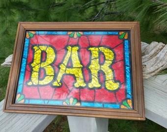 Glitter Art Bar Sign A&F Products Ltd. 1970's