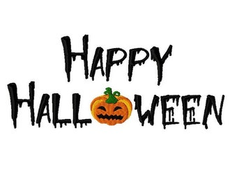 Embroidery Design Happy Halloween2 5'x7' - DIGITAL DOWNLOAD PRODUCT