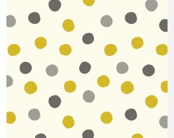 Mod Basics 3 POP DOTS Golden by Birch - Organic Cotton (0.25m)