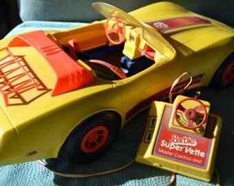 REMOTE CONTROL BARBIE Car Large Vintage Barbie Corvette Automobile Toy