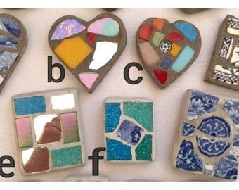 Mosaic fridge magnets, various shapes & sizes available.