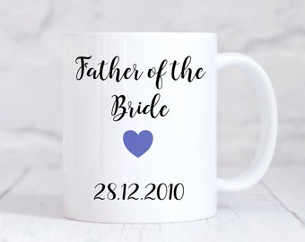 Father Of The Bride Mug, Father Of Bride Gift, Wedding Thank You Gift, Personalised Wedding Gift, Personalised Mug, Coffee Mug, Tea Mug, Cup