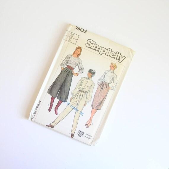 TAMAÑO 16 7602 pantalones pantalón de simplicidad las mujeres falda ...