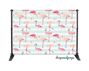 Pink Flamingos - Photography Backdrop