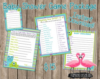 Monsters Inc Inspired  Baby Shower GamesPackage