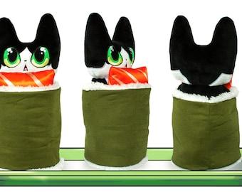 Sushi Cat Plush Toy, NekoMaki, plushy, plushie, cute cats, cat plushies, cat sushi, cat plushy, cats, cute plushy,sushi, sushi cat, purrito