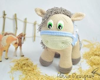Crochet Pattern - Cute Pony (Amigurumi Toy)