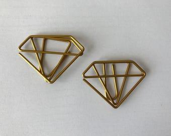 Gold Diamond Paper Clips