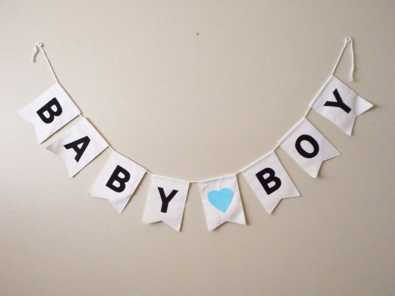It's a Boy Banner - Custom Colors - Baby Boy - Baby Shower Bunting - New Baby Sign - Pregnancy Announcement - Gender Reveal Decorations