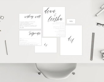 Wedding Package // White Calligraphy
