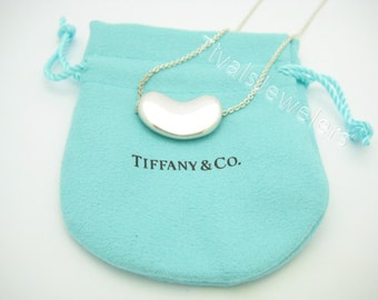 Tiffany & Co. Sterling Silver Elsa Peretti Large Bean Necklace 30""