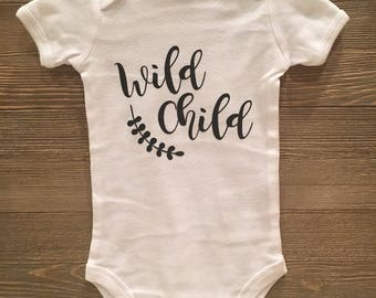 Wild Child baby onesie  Wild//BabyGirl//Adventure//Boho//Hippie