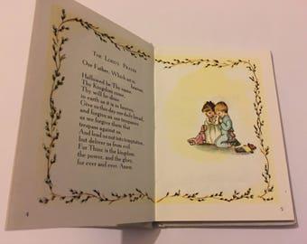 Vintage 1960s Children's Book First Prayers