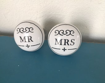 Mr and Mrs, Mrs and Mrs, Mr and Mr,  knobs, drawer pulls