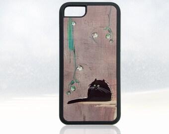Cat iPhone 7 case, black cat iPhone 7 cover, fat cat iPhone 7 case, funny cat iPhone 7 case, nature iPhone 7 case, cute, cool, unique