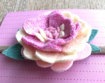 Felt flower nylon headband