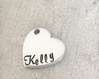 Add-On Heart Name Tag. Extra Stamping Blank. NOT FOR INDIVIDUAL purchase.
