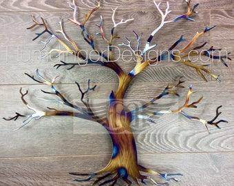 Heated Maple Tree Wall Art Wall Decor Metal Art