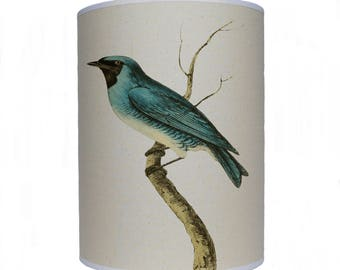 Blue bird shade/ lamp shade/ ceiling shade/ drum lampshade/ lighting