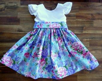 Baby dress - girls dress - toddler dress - infant dress - baby girl gift - baby shower gift - first birthday dress - girls floral dress