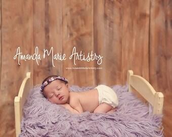 Bedskirt & Mattress- Lavender Ruffles