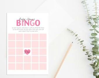 Printable Baby Shower Bingo Game, Baby Bingo, Baby Shower Games, Printable Baby Bingo Game, Boy Baby Bingo, Girl Baby Bingo