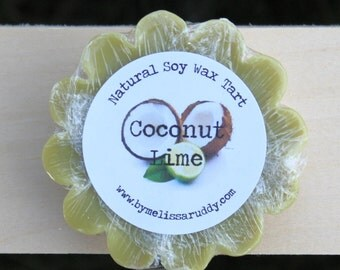Coconut Lime Soy Wax Tart