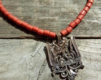 Ukraine-Handmade Ukraine-Ukrainian jewelry-Mother's Day gift-From Ukraine-Ukrainian design-Ukrainian charm-Trident charm-Statement trident
