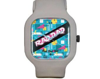 80s Theme RAD DAD Sport Watch, wristwatch, father's day, for dad, dads, fun, retro, accessories