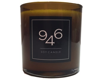 946 Clove Scented Candle, Soy Wax, Hand Poured, 100% Cotton Lead-Free Wicks, Gifts, Hostess Gift, Luxe, Glass Jar, Amber, Luxury